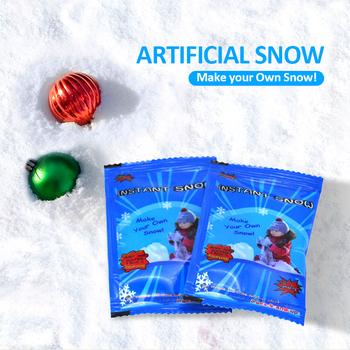 1pc fałszywy magiczny natychmiastowy śnieg sztuczny śnieg festiwal dekoracje świąteczne na boże narodzenie sztuczne na ślub sztuczny śnieg płatki świąteczne tanie i dobre opinie CN (pochodzenie) Proszku śniegu