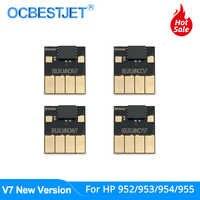 V7 arco nuevo Chip para HP 952, 953, 954, 955 952XL 953XL 954XL 955XL para HP Officejet Pro 7740 de 8210 8710, 8720, 8730, 8740 permanente Chip