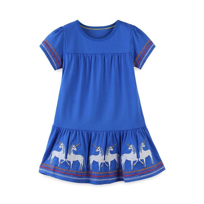 Robes pour bébés, animaux, avec Applique, vêtements d'été, en coton, pour enfants à la mode, robe de princesse et tunique, offre spéciale