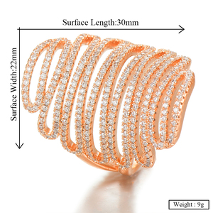 Image 5 - GODKI 2019 Trendy Stacks Charm Statement Ring for Women  Cubic Zircon Finger Rings Beads Charm Ring Bohemian Beach Jewelry