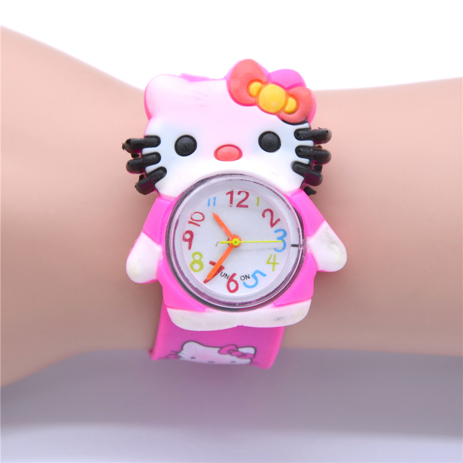 New Silicone Candy Infant Watch Girls Clock Fashion Kids Watches Children Wristwatch Cartoon Quartz Watch
