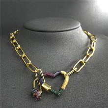 cheny s925 sterling silver necklace rainbow love necklace interlocking love chain female fashion classic bohemian jewelry