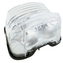 Motorcycle Clear/Red ABS Plastic Tail Light Casing For Yamaha XJR1300 XJR 1300 1998-2003 99 00 01 02