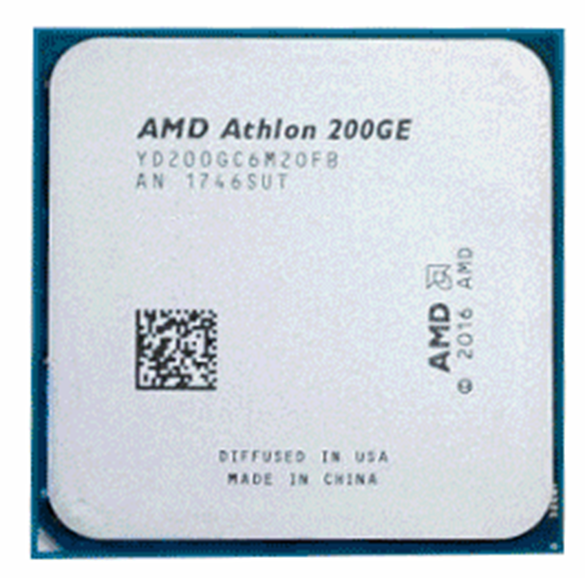 AMD Athlon 200GE X2 200GE 3.2 GHz processeur d'unité centrale Quad-Thread double coeur YD200GC6M2OFB Socket AM4