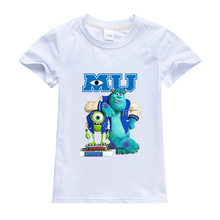 Monsters, Inc. Child T Shirt James P. Sullivan Printing Clothes Disney Anime Figures Clothing Boys Girls Toddler Tops Infant Tee