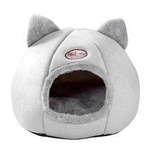 Novo sono profundo conforto no inverno gato cama pequena esteira cesta para casa do gato produtos para animais de estimação tenda aconchegante camas de caverna indoor cama gato gato