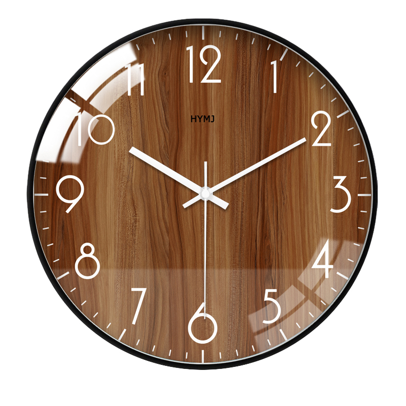 Glass Nordic Wall Clock Bedroom Large Modern Stylish Mute Wall Clocks Thick Watches Living Room Watch Home Decor Clock II50WC