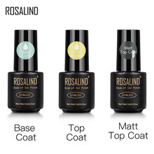 Rosalind Top En Base Coat Gel Polish Langdurige Versterken 7Ml Hybrid Vernissen Manicure Uv Gel Lak Nail Art primer