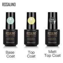 ROSALIND couche supérieure et Base Gel vernis longue durée renforcer 7ml vernis hybrides manucure UV Gel laque ongle Art apprêt