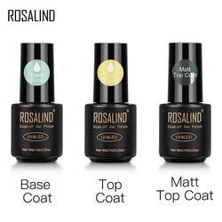 ROSALIND Top And Base Coat Gel Polish Long Lasting Reinforce 7ml Hybrid Varnishes Manicure UV Gel Lacquer Nail Art Primer