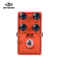 BB Preamp Guitar Effect Pedal Overdrive and Boost True Typass