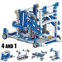 Przekładnia mechaniczna Technic klocki inżynieria nauka dla dzieci edukacyjne zabawki edukacyjne 3w1 klocki klocki dziecięce
