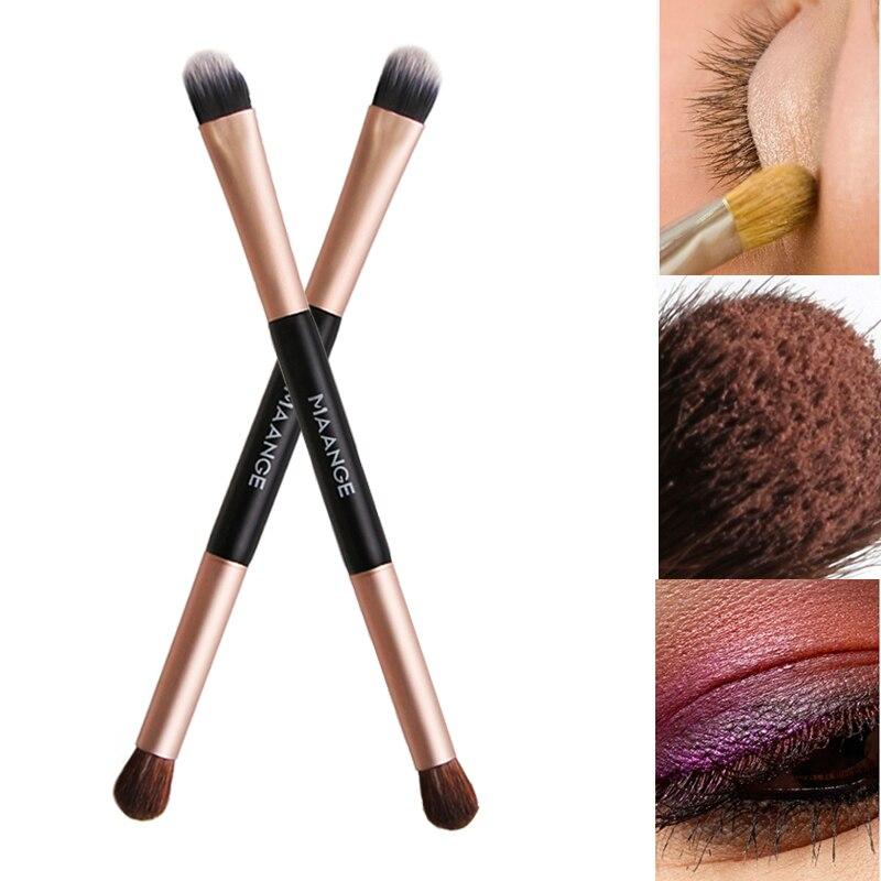 2019 New Nylon Bristle Double-head Eye Shadow Brush Soft Bristles Easy To Apply Double-end Eyeshadow Brushes Pincel Maquiagem