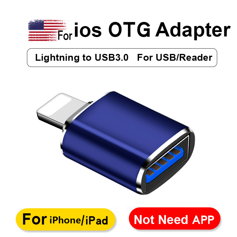 Mobile Phone Adapter For Lighting To USB 3.0 Adapter For IPhone7 8 6 6s Plus 11 Pro Max X XS XR Kit Converter For IOS 13 Adaptor