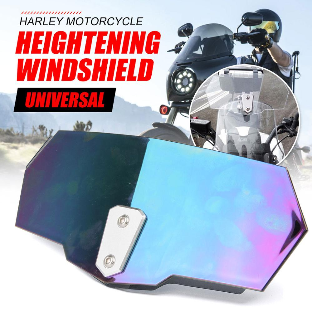 Adjustable Airflow Windscreen Windshield Motorcycle Parts For Honda <font><b>nc750x</b></font> cb650f cb500x cb750 cb1000r MSX125 CBR 600RR 929RR image