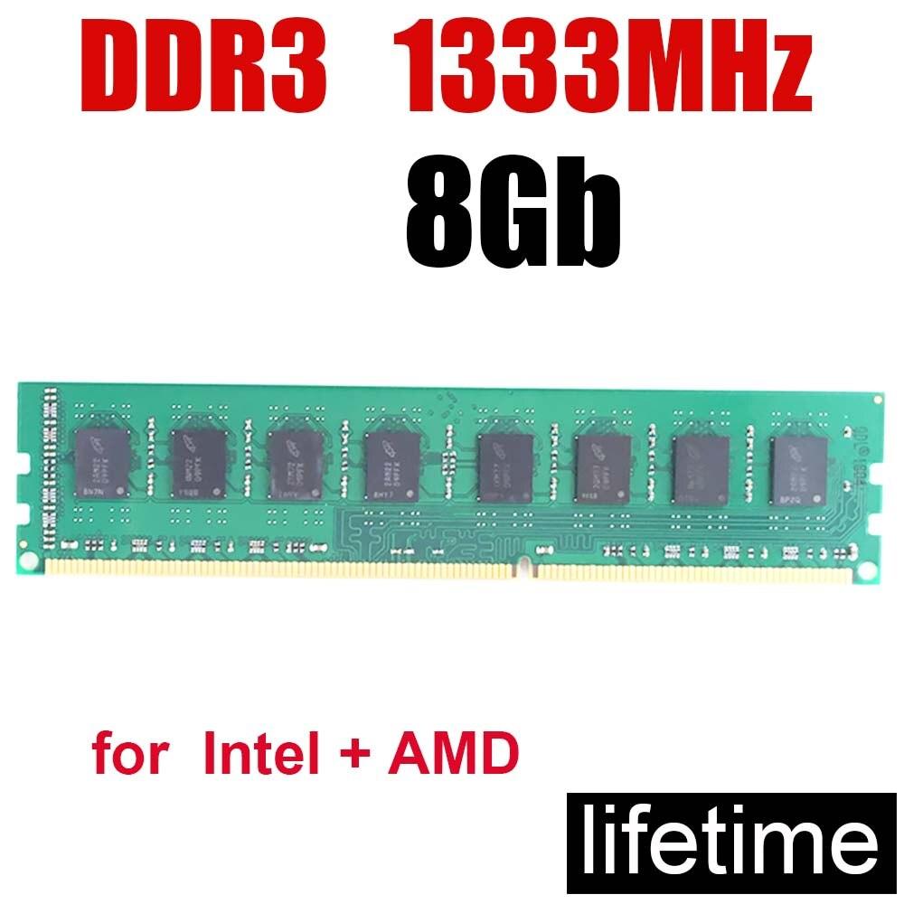 Mémoire RAM memoria Ddr3 8Gb mémoire RAM ddr3 1333 8G/240PIN 1.5V mémoire DIMM 16Gb 8Gb 1600 2G 8G vitesse de bureau/ordinateur