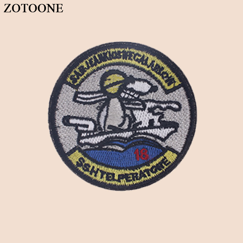 ZOTOONE Iron on Round Patch for Clothes T shirt Heat Transfer Stickers Diy Applique Embroidered Applications Cloth Fabric G in Patches from Home Garden