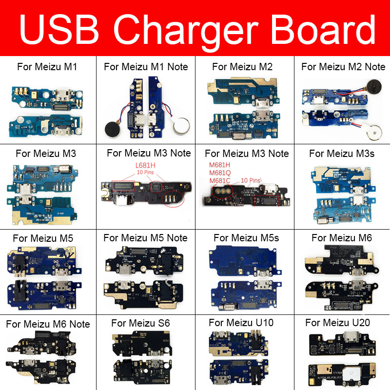 Usb Charging Charger Jack Port Board For Meizu Meilan M1 M2 M3 M3s M5 M5s M6 S6 U10 U20 Max Note Usb Connector Charger Board