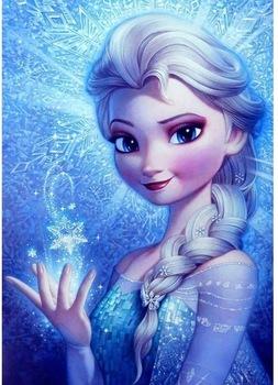 Disney pełny kwadrat 5D majsterkowanie malowanie diamentowa księżniczka Anna haft diamentowy ścieg mozaikowy prezent tanie i dobre opinie OBRAZY CN (pochodzenie) PAPER BAG Pojedyncze Akrylowe Pełna Tak ( 50 sztuk) cartoon Zwijane POWYŻEJ 45 Okrągły Nowoczesne