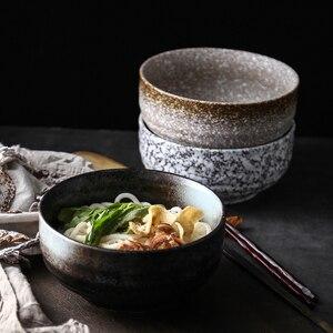 Image 1 - Японская миска для рамен, большая Бытовая керамическая миска, миска для лапши и супа, креативная миска для лапши мгновенного приготовления, коммерческая столовая посуда для ресторана