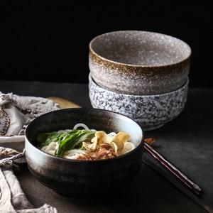 Image 1 - Cuenco ramen japonés grande de cerámica para el hogar, tazón de sopa de fideos, cuenco para fideos instantáneos, vajilla de restaurante comercial