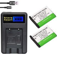 2 Batteries LI40B LI42B + chargeur USB LCD pour Olympus, pour Nikon EL10 ENEL10 Pentax/Fuji