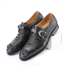 Crocodile Shoes Men Dress 100% Genuine Leather Derby Casual Formal Brand Party Wedding Luxury Men's Oxford Alligator Shoes derby shoes men genuine leather luxury brand handmade vintage retro office formal party wedding dress shoes men