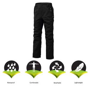 Image 3 - 8 Fans 2 ply Fishing Hiking Trawler Pant with Pockets Outdoor Quick Dry Breathable Trouser for Men & Women Waterproof Black