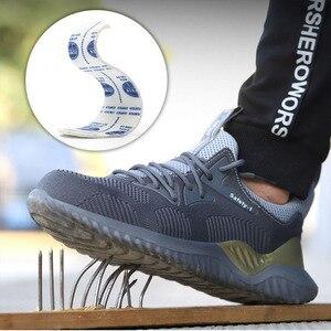 Image 5 - MWSC zapatos de trabajo de seguridad para hombre, botas de trabajo con punta de acero antigolpes, indestructibles, zapatillas de seguridad
