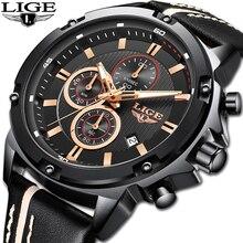 LIGE 2020 New Watch Men Fashion Sport Quartz Clock Mens Watches Brand Luxury Lea