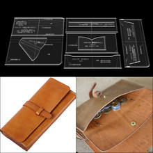 Skórzane narzędzia rzemieślnicze długi portfel diy handmade skóra ręka trzyma portfel szablon akrylowy rysunek wersji