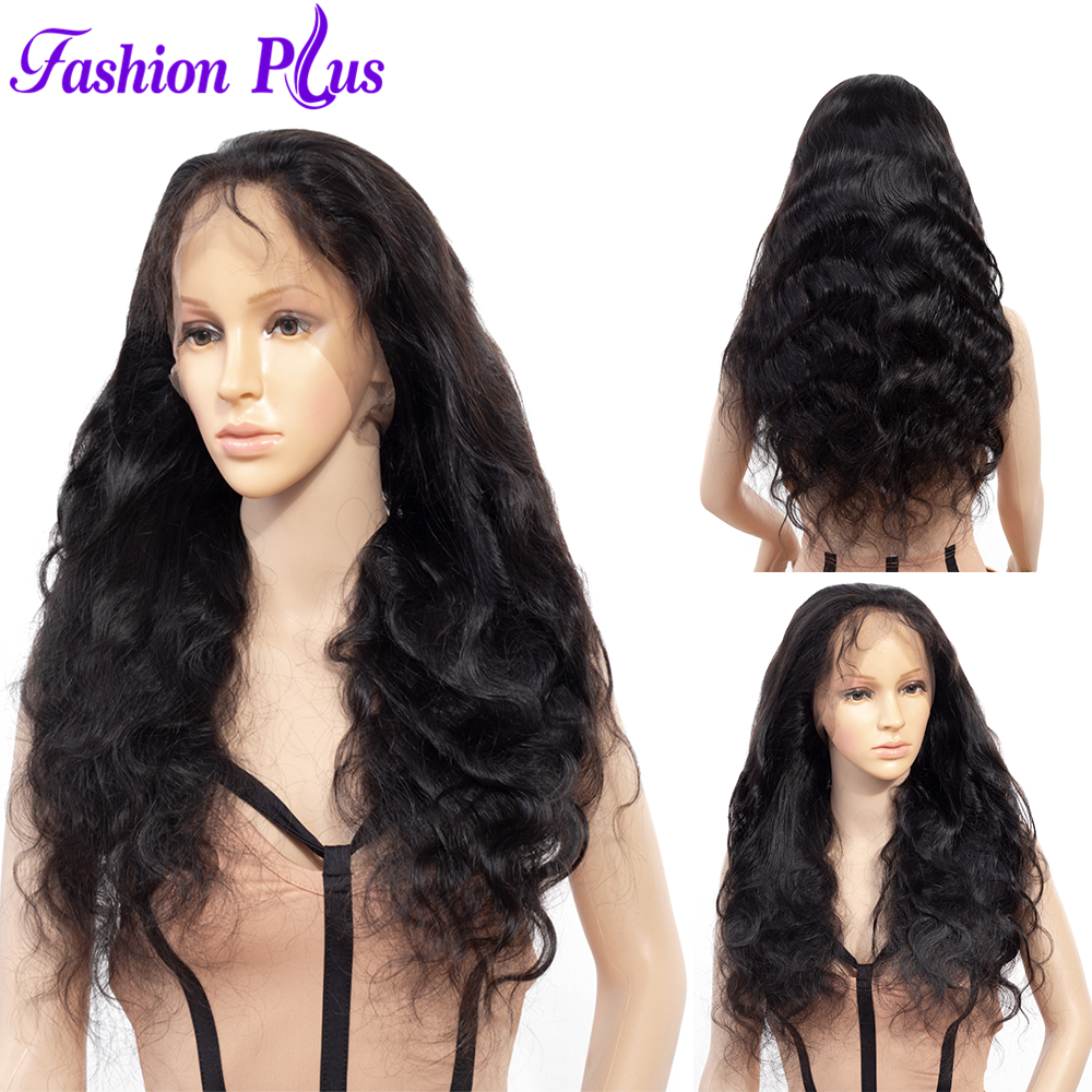 Body Wave Full Lace Humab Hair Wigs For Women Pre Plucked Hairline With Baby Hair Brazilian Remy Hair 150% Density