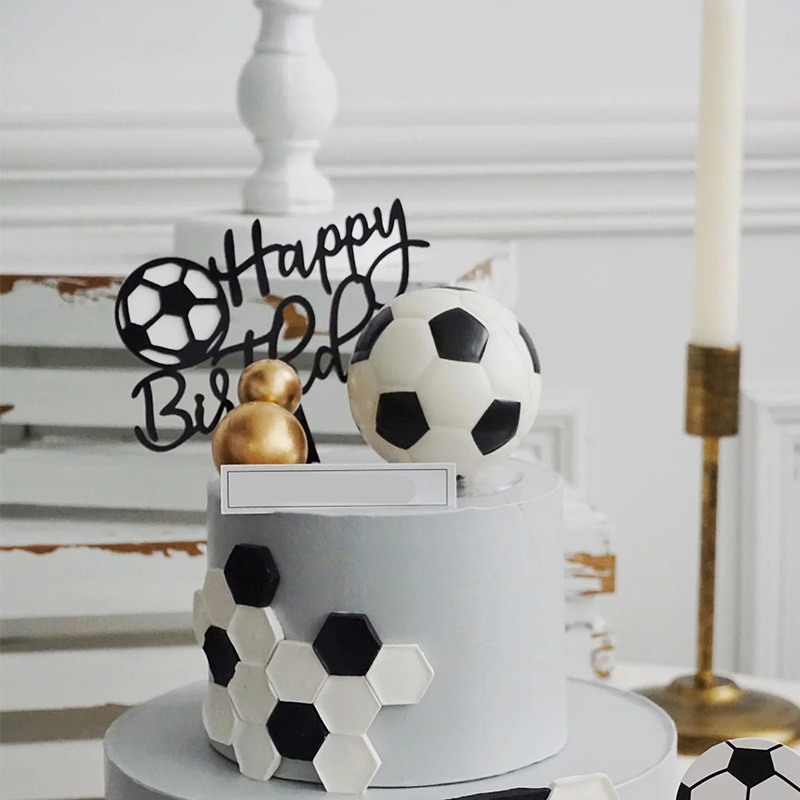 Basketball Football Theme Party Cupcake Topper Happy Birthday Cake Topper Flage For Kids Boy Birthday Party Cake Decors Supplies