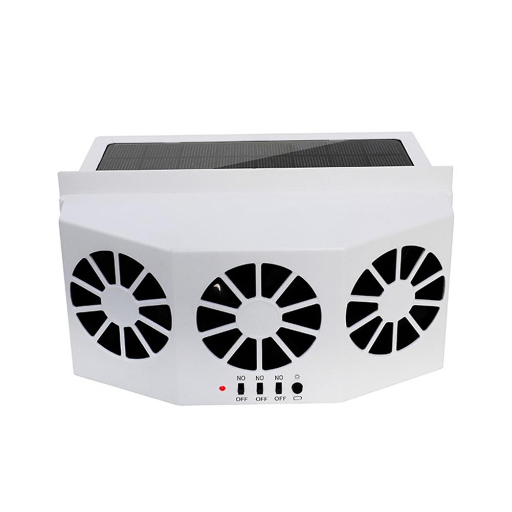 Car Ventilator 3 Cooler Fans Solar powered Energy Cooling Vent Exhaust Portable Safe Auto Fan