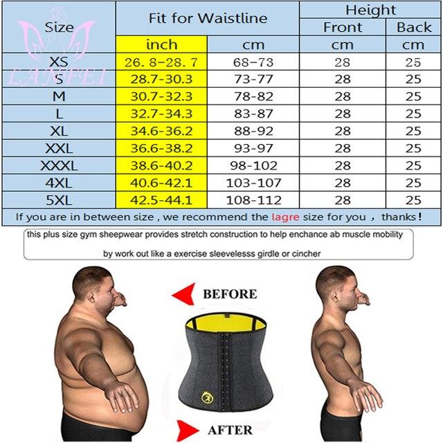 LANFEI Body Shaper Waist Trainer Slimming Shapewear Men Neoprene Sauan Sweat Weight Loss Belt Gym Fitness Modeling Strap Corset 2