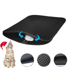 Double Layer Cat Litter Mat Waterproof Pet Trapping Catcher Foldable Kitty Pad EVA Easy Clean Products