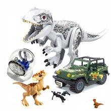 Jurássico mundo 2 brutal raptor blocos de construção dinossauro figuras tijolos dino brinquedos para crianças dinosaurios presente natal