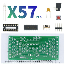 Diy-Kit Electric-Production-Kits Pcb-Board with LED Lamps Double-Layer 84--40mm 5V Hourglass