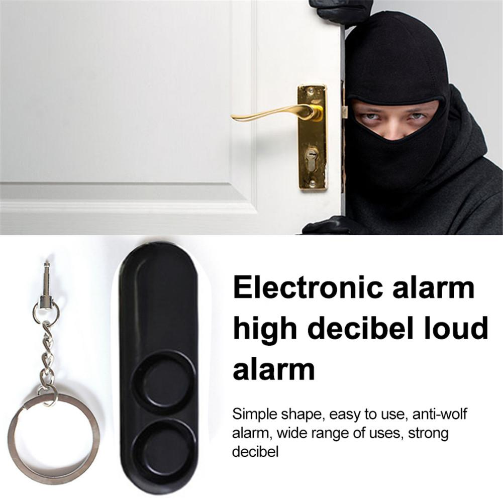 Anti-wolf Alarm Buzzer Device Personal Electronic Alarm High Decibel Loud 120DB Alarm With LED Lighting Keychain