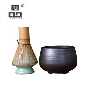 TANGPIN japonês conjuntos de taças com batedor de bambu cerimônia do chá matcha japonês de cerâmica conjuntos de chá drinkware