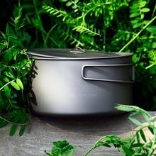 лучшая цена TOAKS 1350ml Cookware Pot Ultralight Titanium Pot Outdoor Titanium Bowl Titanium Cup Folding Handle For Camping Travel