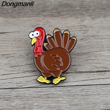 K621 Halloween Jewelry Turkey Pins Metal Brooches and Pins Enamel Pin for Backpack Badge Brooch T-shirt Collar Jewelry Gifts k313 trick r treat horror pins metal brooches and pins enamel pin for backpack bag badge brooch t shirt halloween jewelry
