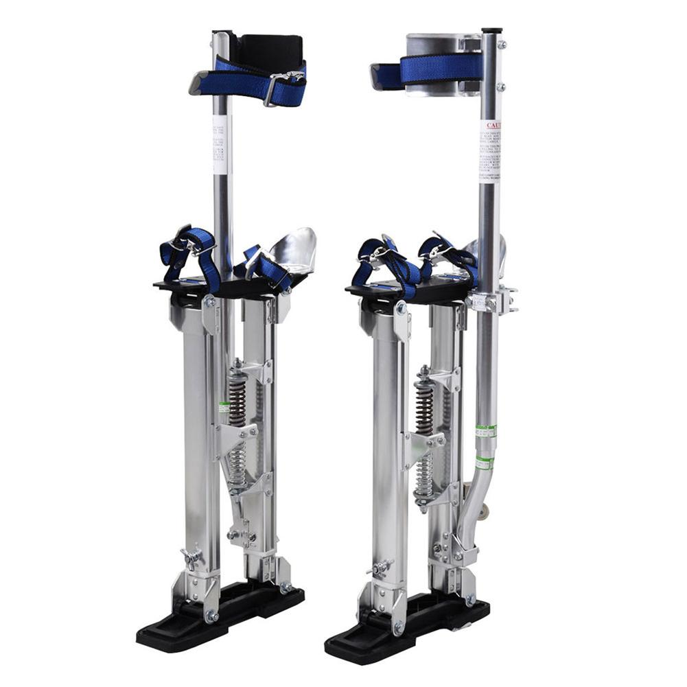 High Quality Aluminum Alloy Stilt Adjustable 15 To 23 Inch Telescopic Foot Stand For Indoor And Outdoor Decoration Silver