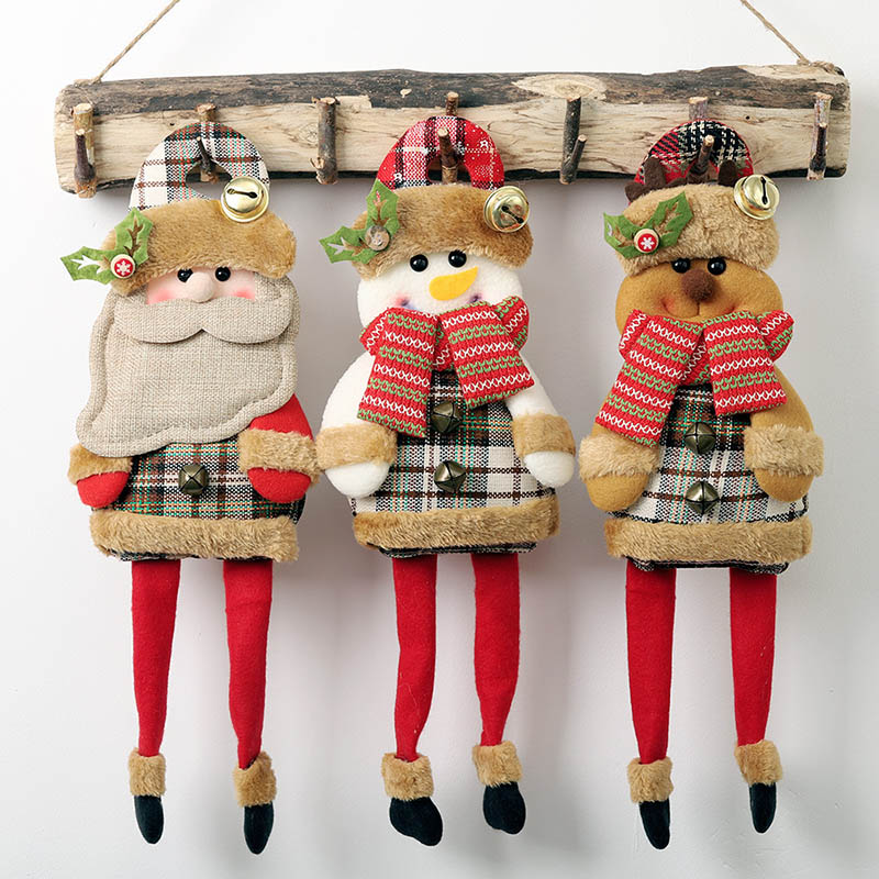 Christmas Santa Claus Snowman Reindeer Toy for Xmas Tree Hanging Ornament Home Decoration New Year Gift christmas decorations in Pendant Drop Ornaments from Home Garden