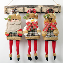 Christmas Santa Claus Snowman Reindeer Toy for Xmas Tree Hanging Ornament Home Decoration New Year Gift christmas decorations