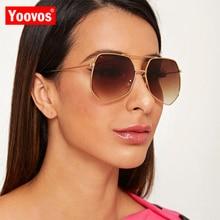 Yoovos 2020 Large Frame Sunglasses Women/Men Luxury Brand De