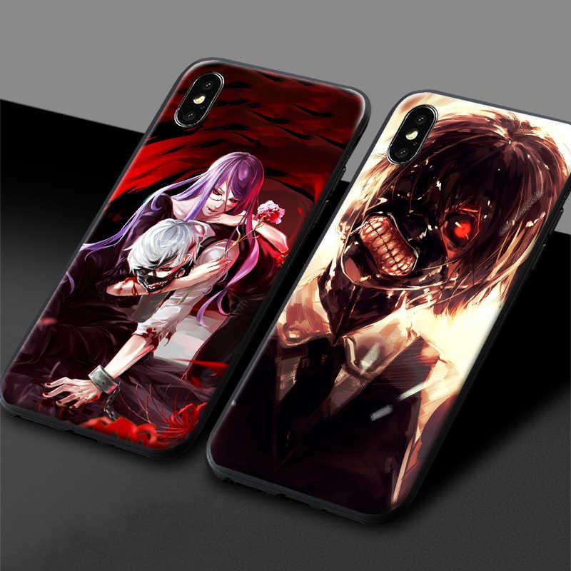 Tokyo Ghoul Ken Kaneki Touka Juuzou Rize – coque de téléphone en silicone souple, anime, pour iPhone 6 6s 7 8 Plus X XR XS 11 Pro Max