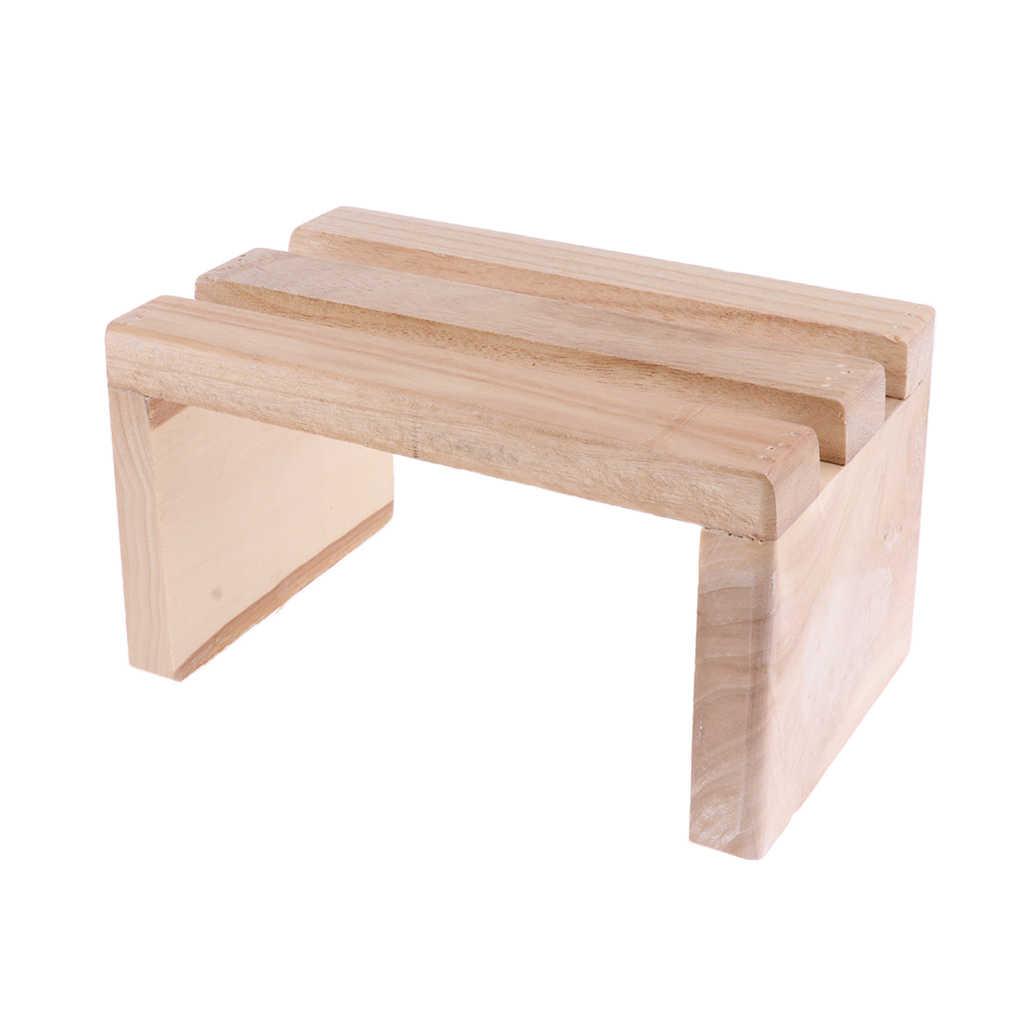 Fine 2Pcs Wood Foot Step Stool Platform For Feet Spa Bath Barrel Customarchery Wood Chair Design Ideas Customarcherynet