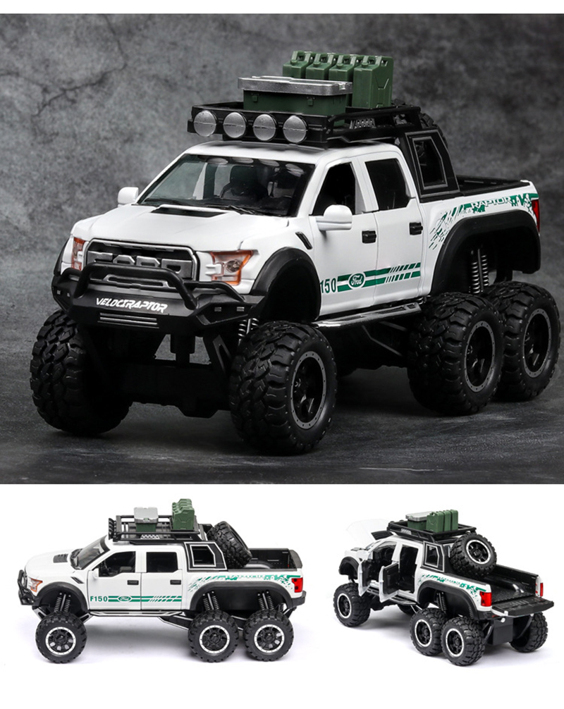 Ford F150 Raptor Pickup Truck Model Car with Sound and Lights 13