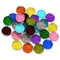 Драгоценные камни 40 шт., 8 мм, 10 мм, 12 мм, натуральная руда, кабошоны из смолы с плоским основанием для браслетов, сережек, фурнитура для изгото...